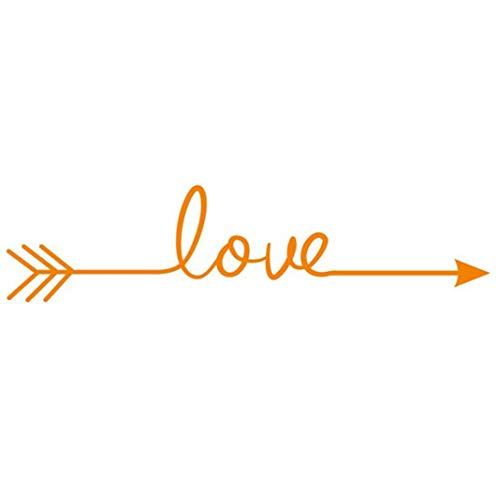 ManxiVoo Love Arrow Home Decoratoin Wall Stickers Removable Art Vinyl Carving Mural Decal Sticker for Living Room Bedroom -