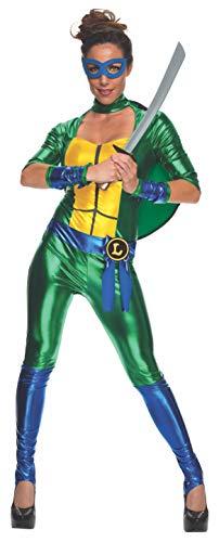 Rubie's Costume Co Women's Secret Wishes Teenage Mutant Ninja Turtles Leonardo Costume Jumpsuit, Multi, ()