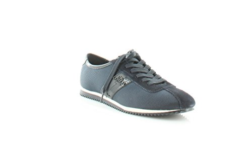 Coach Vrouwen Klimop Laag Top Lace Up Mode Sneakers Navy / Midnight Navy Zware Nylon / Split Suede