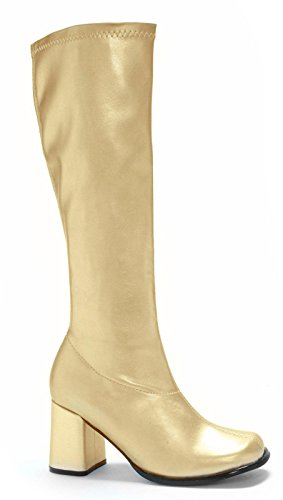 Ellie Shoes Women's Gogo Boot, Gold, 8 M US