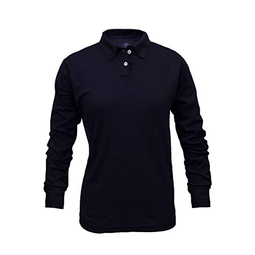 National Safety Apparel Medium Navy TrueComfort 8.9 cal/cm Flame Resistant Long Sleeve Polo by NATIONAL SAFETY APPAREL INC (Image #1)