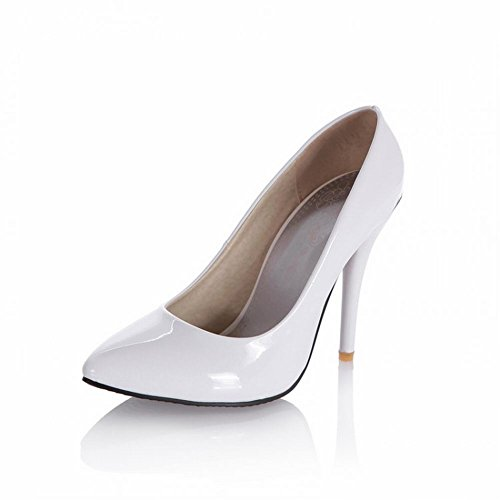 Charme Voet Mode Dames Mary Jane Hoge Hak Pumps Schoenen Wit