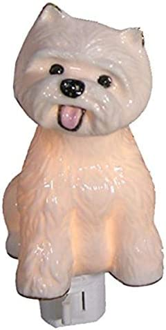 Green Pastures Whole Dog Porcelain Night Light 3-Inch by 3-Inch by 4-Inch