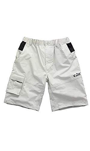 Gill Mens Waterproof Sailing Padded Shorts, Silver Grey, Large
