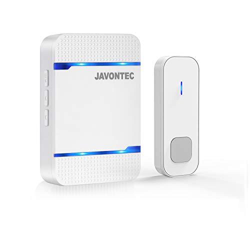 [해외]JAVONTEC Wireless DoorbellLED IndicatorWaterproof IP551000ft Long Range55 Ringtones and 5 Volume Levels1 Plug-in Receiver&1 Remote Button(White) / JAVONTEC Wireless DoorbellLED Indicator,Waterproof IP55,1000ft Long Range55 Ringtone...