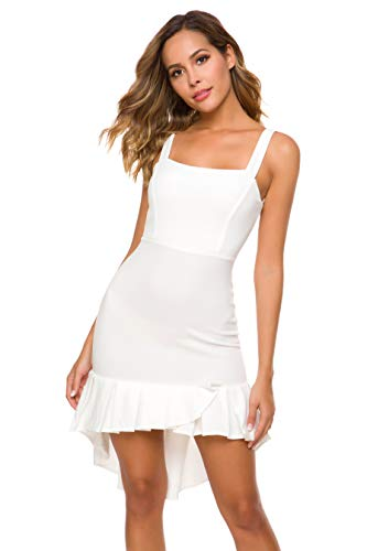 Lilly Posh Sexy Fit and Flare Classic Bombshell Fish Tail Cocktail Dress White