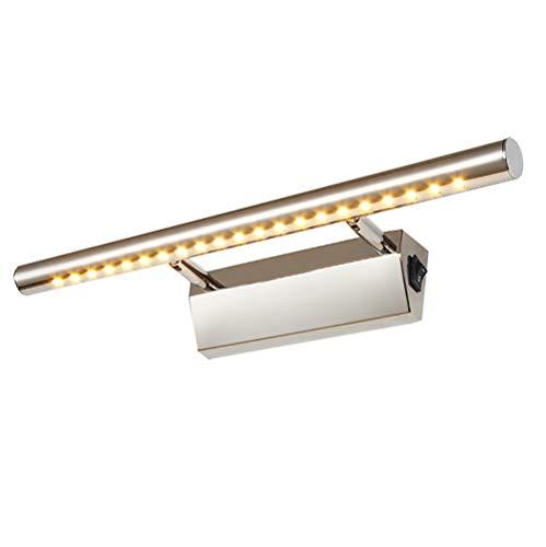 Slaapkamer 5W LED spiegel voorlicht – badkamerlamp met schakelaar waterdichte make-up verlichting roestvrij staal…