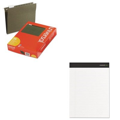 KITUNV14115UNV60630 - Value Kit - Universal Sugarcane Based Writing Pads (UNV60630) and Universal Hanging File Folders (UNV14115) by Universal