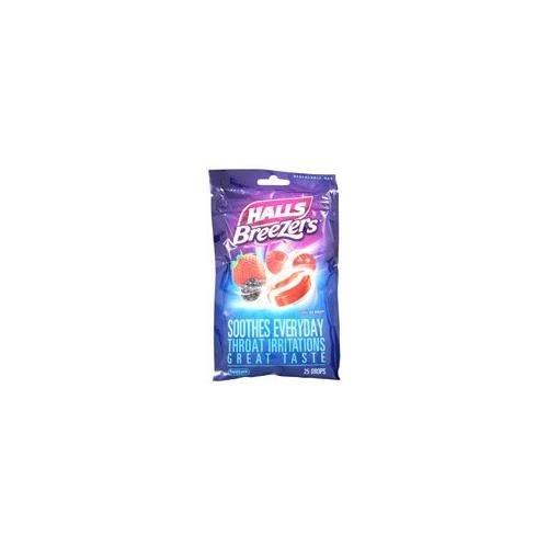 Drops Cool Berry (Halls Breezers Pectin Throat Drops Cool Berry -- 25 Drops - Buy Packs and SAVE (Pack of 2))