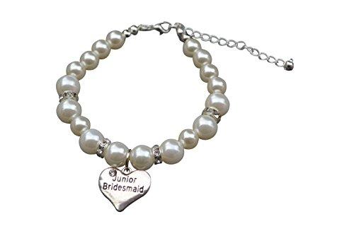 Junior Bridesmaid Bracelet, Junior Bridesmaid Jewelry- Pearl Bridesmaid Bracelet, Gift For Junior Bridesmaids