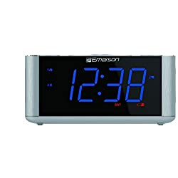Emerson SmartSet Alarm Clock Radio, USB port for iPhone/iPad/iPod/Android and Tablets, CKS1708