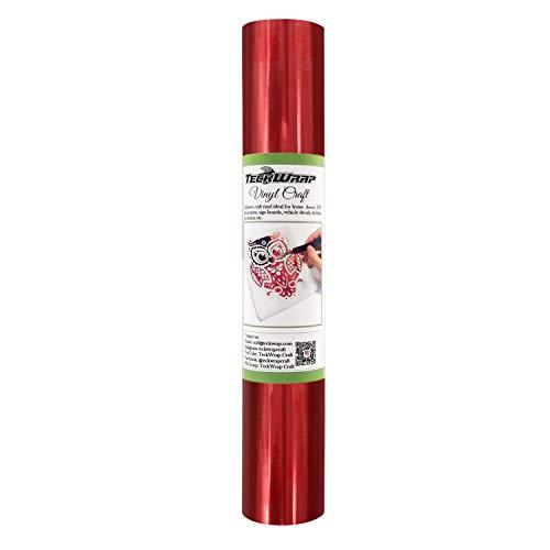 (TECKWRAP Chrome Red Adhesive Craft Vinyl Roll 1ftx5ft)