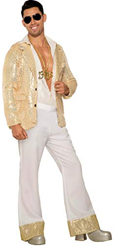 Mens White Disco Pants (Forum Novelties Men's Disco Pants, White,)