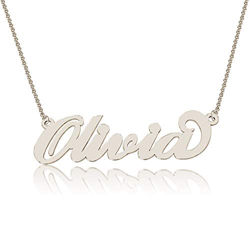 Personalized Olivia Name Necklace, Custom made in stock, Ste