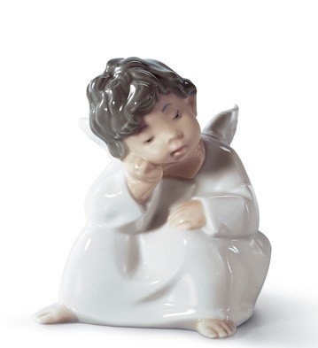 ANGEL THINKING Lladro Porcelain by Lladro Porcelain