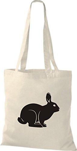 Shirtstown Stoffbeutel Tiere Hase, Rammler, Häschen Natur