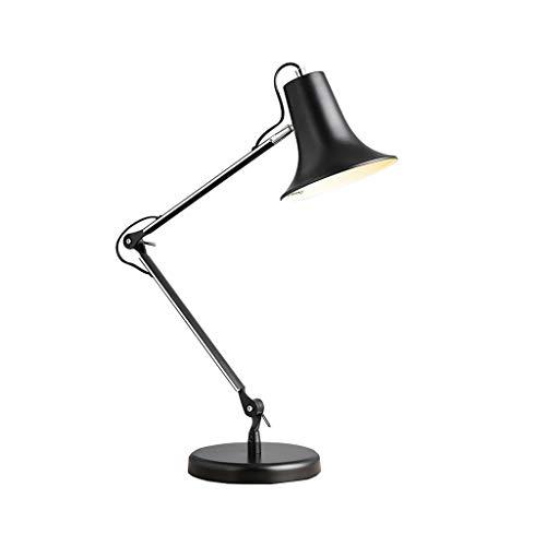 Lampara de mesa de brazo largo elastica, minimalista y moderna, que se ajusta libremente para una iluminacion facil: adecuada para dormitorios, comedores, salas de estudio, oficinas XYJGWSTD