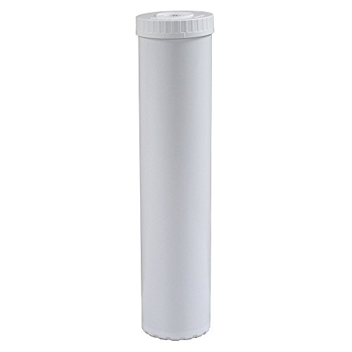 Filter Resin Blue - Hydronix EC-4520W Universal White Empty Water Filter Cartridge, Durable Construction, for Pre or Post Use, Fits Big Blue Housings 4.5