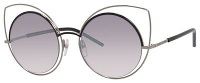 Marc Jacobs Women's Marc10s Cateye Sunglasses, Ruthenium Shaded Black/Gray SF Silver Sp, 53 - By Marc Sf Marc Jacobs