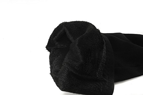 BalaMasa Womens Knee-High Chunky Heels Charms Suede Boots ABL10546 Black WelHBUW4sr