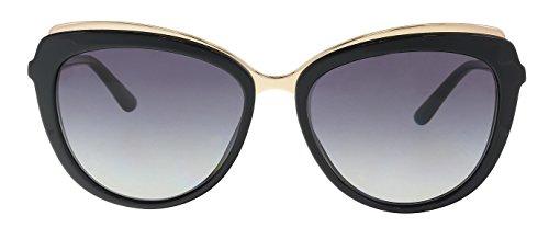 Dolce & Gabbana Women's Acetate Woman Cateye Sunglasses, Black, 57.0 mm
