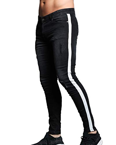96ce6b7654bd Jual XARAZA Men s Skinny Slim Fit Stretch Jeans Denim Pencil Pants ...