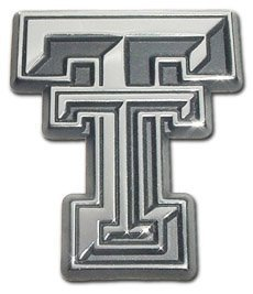 Texas Tech Red Raiders Premier ''TT'' Chrome Metal Auto Emblem by MVP Accessories