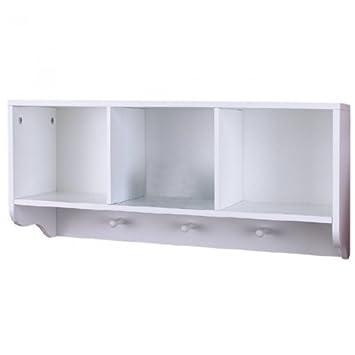 Badezimmer Regal Weiss Holz Bad Mit Handtuchhalter Aussenmasse 67 X 20