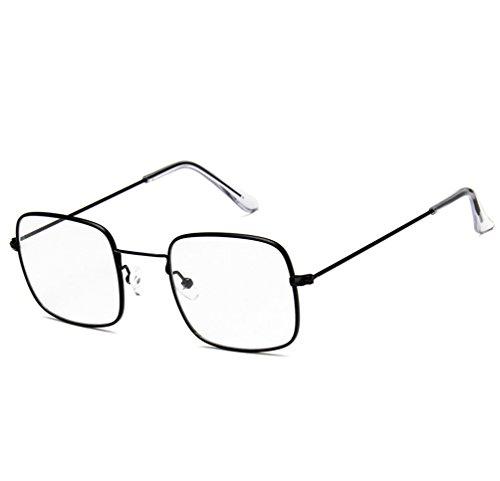 De Marco Gafas Metal Negro Cuadradas De De Retro Transparente Gafas Unisexo Marco Moda Marinas De Blanco Ketamyy Películas Sol Sol UZnHFqU