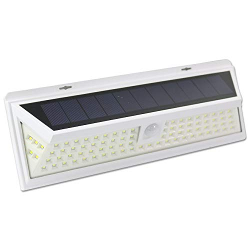 (Leisure LED 86 LED Wall Solar Light Outdoor Security Lighting Nightlight with Motion Sensor Detector for Garden Back Door Step Stair Deck Yard Driveway RV Trailer Motorhome (White, 86-LED))