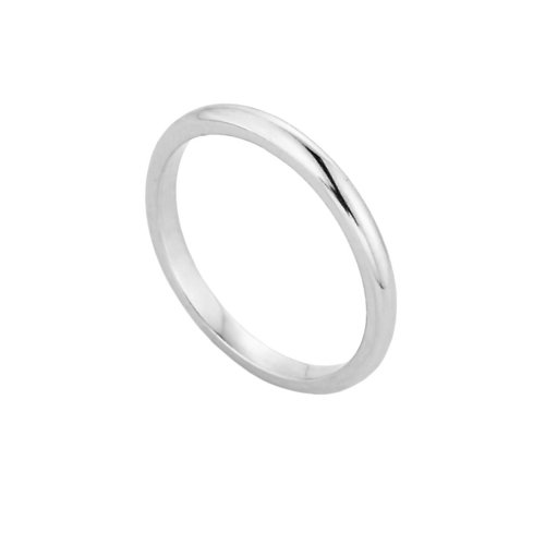 (Solid 10k White Gold Baby Ring, Size 3)