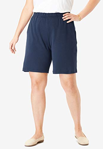 Woman Within Womens Plus Size 7-Day Knit Short