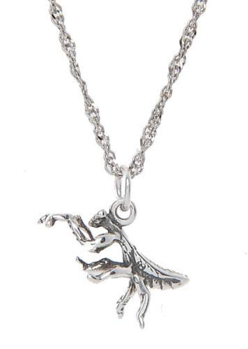 Charm - Sterling Silver - Jewelry - Pendant - Praying Mantis with Necklace 16 INCH