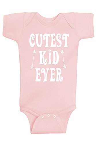 Reaxion Baby Boy and Baby Girl Clothes - Handmade Cutest Kid Ever Bodysuits (Pink, 6 Months)