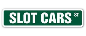 SLOT CARS Street Sign Decal race slotcar trucks gift collector toys gift boy racing