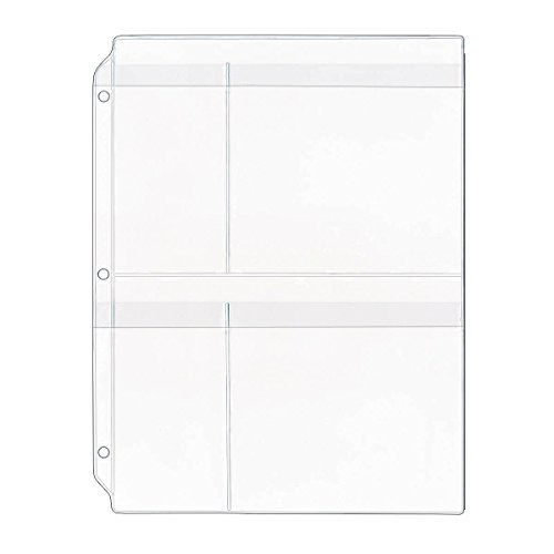 StoreSMART - Yarn Organizer with Flaps- 4-Pocket Binder Page - 100-Pack - R931F-YARN-100 by STORE SMART (Image #1)