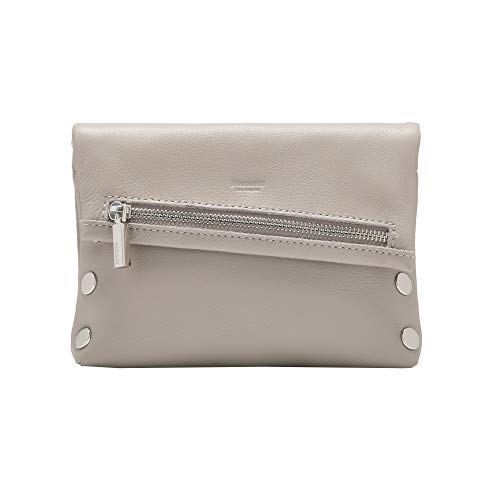 Hammitt Women's VIP Small Clutch Haze Pebble Grey with Silver Accents