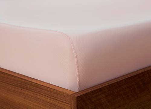 SHEEX - Original Performance Fitted Sheet, 1 (One) Fitted Sheet ONLY, Ultra-Soft Fabric Transfers Body Heat and Breathes Better Than Traditional Cotton, Blush Pink (King)