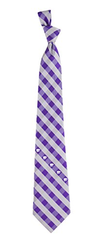 Kansas State Check Poly Necktie