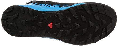 Salomon Unisex-Erwachsene S/Lab Xa Alpine 2 Traillaufschuhe, Schwarz, 49.3 EU schwarz (Black/Transcend Blue/Racing Red 000)