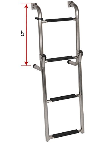 Oceansouth Transom Ladder Stainless Steel Folding 4 (Step Transom Ladder)