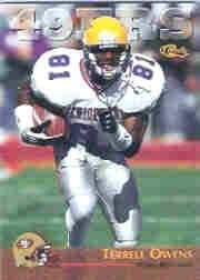 7098744e6eb Image Unavailable. Image not available for. Color  1996 Classic NFL Rookies   94 Terrell Owens Near Mint Mint