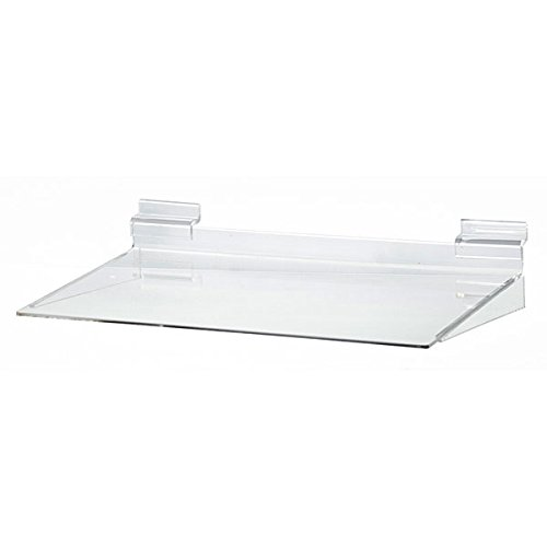 KC Store Fixtures A02104 Acrylic Slatwall Shelf, Molded, 12'' W x 8'' D (Pack of 25)