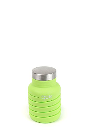 que-Bottle-Fashionable-Collapsible-12oz-Water-Bottle-Keylime-Green