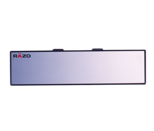 "Car Mate Razo RG23 11.8"" Black Frame Wide Angle Convex Rear View Mirror - Pack of 1"