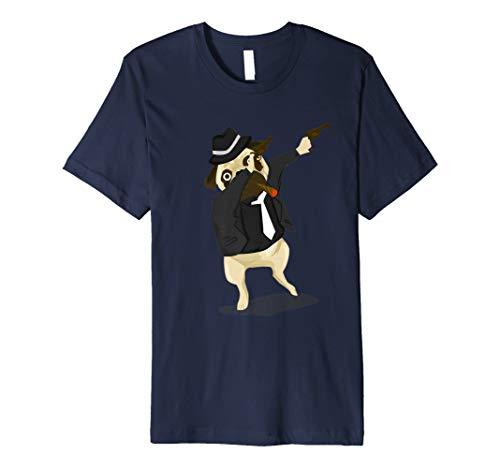 Dabbing Italian Gangster Pug Funny Dog Lover T