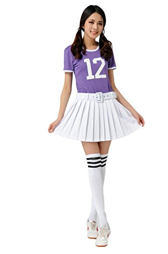 Losorn Women Girls Musical Uniform Glee Club Fancy Dress Cheerleader Outfit - Glee Cheerleading Uniform
