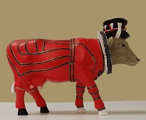 CowParade Beefeater - It Ain't Natural (Medium) - Natural Beefeaters