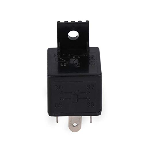 Cloverclover Auto Relay Universal 4 Pin DC 12V 30A Build-in Fuse Socket Car Relay for Electric fuel pumps//Electric water Pumps//Headlight