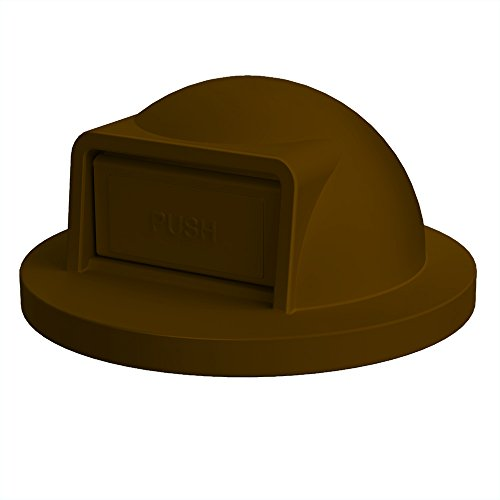 Dome Top For 55 Gallon Drum | Brown (Trash Receptacle Dome Lid)